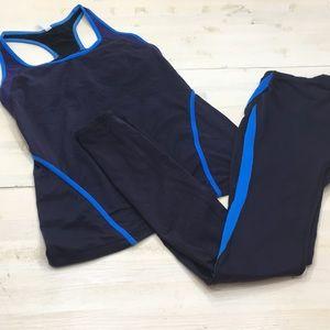 Gap Fit athletic matching tank & legging bundle S